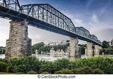 park, brug, straat, coolidge, okkernoot