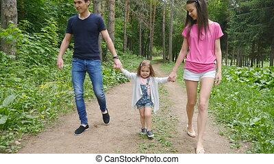 park, gezin, wandeling