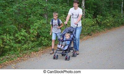 park, gezin, wandelingen