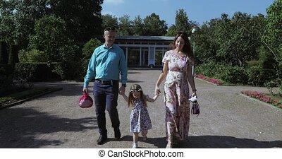 park, jonge familie