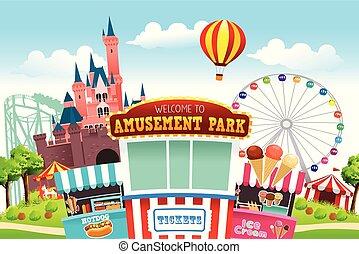 park, vermaak, illustratie