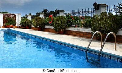particulier, luxe, pool, zwemmen