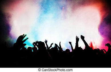 partij., concert, disco muziek, mensen