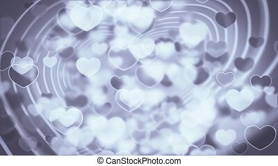 partikels, hart, animatie, stroom