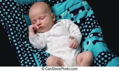 pasgeboren baby, slapende