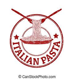 pasta, postzegel, italiaanse