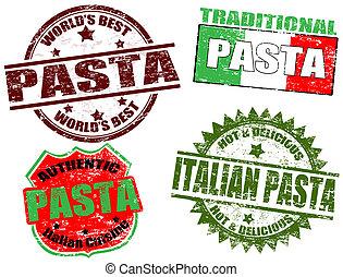 pasta, postzegels