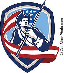 patriot, schild, ??µat?sµ?? s?µa???, soldaat, amerikaan