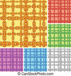 pattern., seamless, ketting