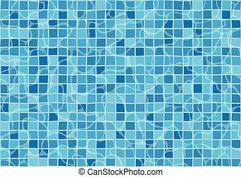 pattern., seamless, textuur, tiles., water, mozaïek, surface., pool, zwemmen