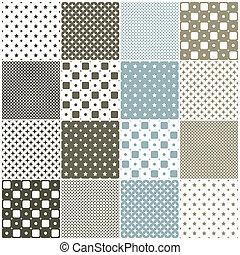 patterns:, geometrisch, pleinen, seamless