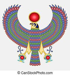 pectoraal, valk, egyptisch