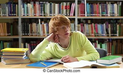peinzend, student