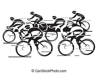 peleton, hardloop, cyclus