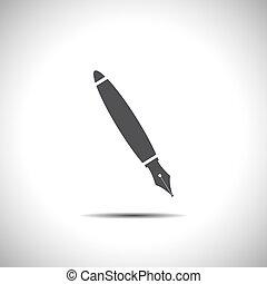 pen, vector, fontijn, pictogram