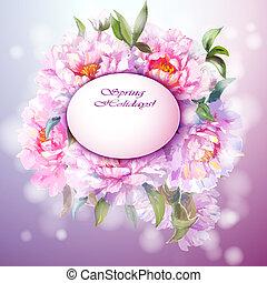 peonies, bloemen, achtergrond
