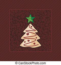 peperkoek, boompje, kerstmis