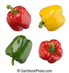 pepers, zoet, witte , vrijstaand