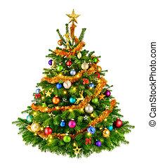 perfect, boompje, kerstmis, kleurrijke