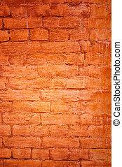 perfect, grunge, muur, -, achtergrond, baksteen
