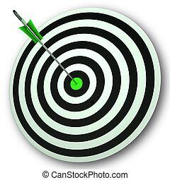 perfect, oog, doel, brandpunt, stier, nauwkeurigheid, optredens