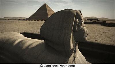 perron, 4k, geanimeerd, giza, sphinx, egypte