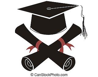 pet, black , vrijstaand, afgestudeerd, diploma