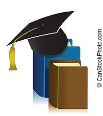 pet, boek, afgestudeerd
