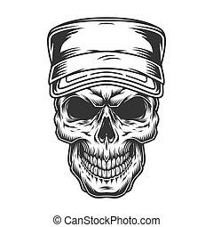 pet, militair, schedel