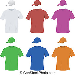 pet, set, honkbal, hemd