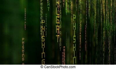 phishing, matrijs, alarm, concept, data