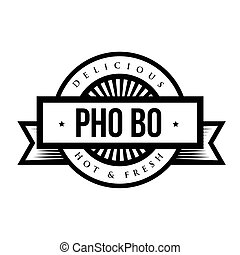 pho, postzegel, ouderwetse , bo, -, (vietnamese, soup), heerlijk