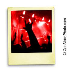 photo:, ventilatoren, polaroid, menigte
