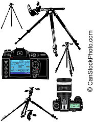 photographer's, achtergrond, uitrusting, witte