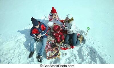 picknick, winter