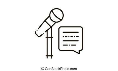pictogram, klesten, microfoon, reproductie