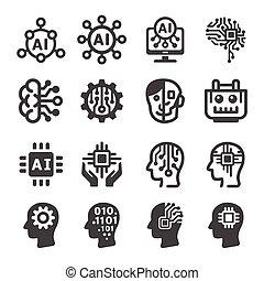 pictogram, kunstmatige intelligentie