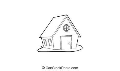 pictogram, ranch, animatie