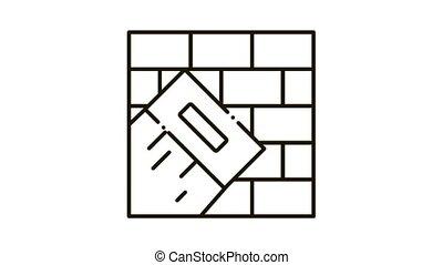 pictogram, trowel, schilderij, animatie