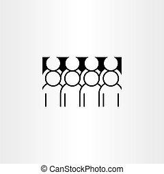 pictogram, vector, groep, clipart, mensen