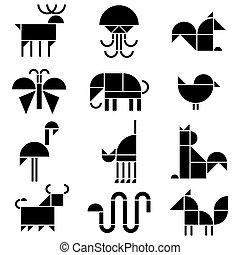 pictograms, dieren