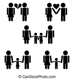 pictograms, gezin