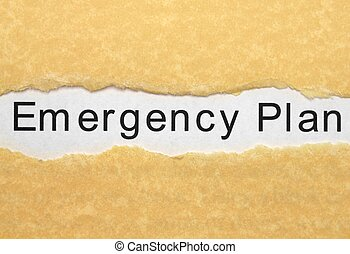 plan, noodgeval