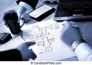 plan, zakenlui