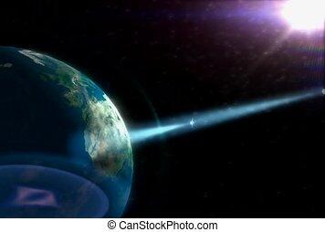 planeet, buitenste ruimte, technologie