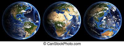 planeet land, hi-res