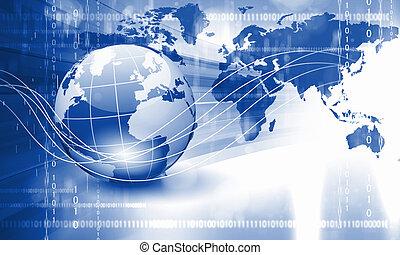 planeet land, technologie, achtergrond