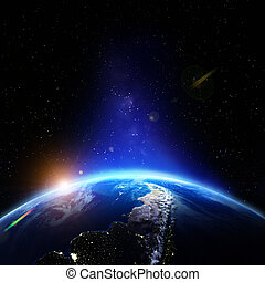 planeet land, verlichting