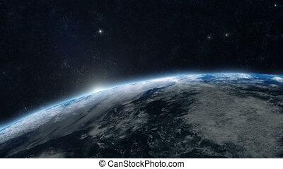 planeet land, -, zonopkomst, 05