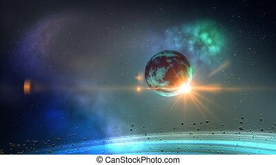 planeet, lus, ruimte